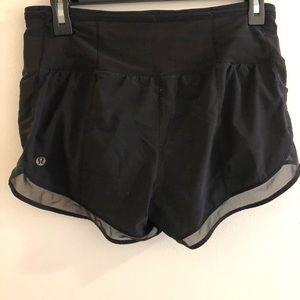 Black Lulu shorts